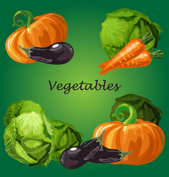 poster with a picture of ripe and healthy vector image