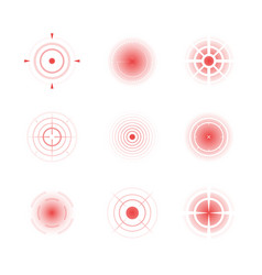 Radial red shapes migraine aiming bones painful vector