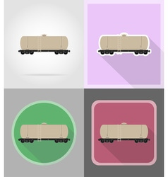 Railway transport flat icons 08 vector