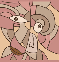 Rare mosaic face vector