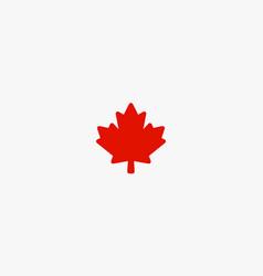 Red maple leaf canada symbol vector