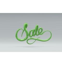 Sale sign 3d lettering vector