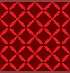 seamless abstract grid art dark red pattern vector image