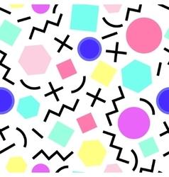 seamless geometric pattern Memphis Style vector image