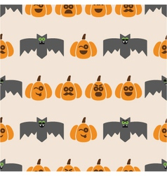 Seamless pattern of bats and pumpkins vector