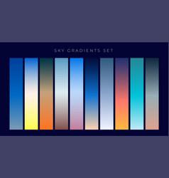 Set of sky gradients background vector
