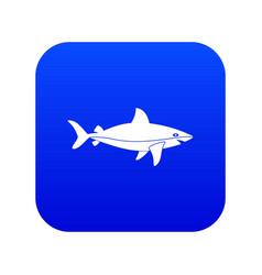shark fish icon digital blue vector image