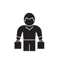 shopper black concept icon shopper flat vector image
