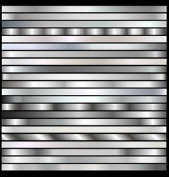 Silver gradients set vector