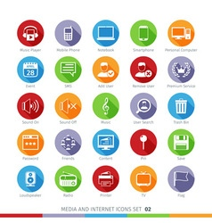 Social Media Flat Icons Set 02 vector