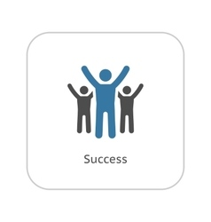 Success Icon Business Concept Flat Design vector image