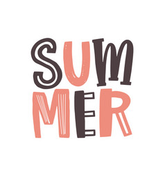 Summer word written with cool funky calligraphic vector