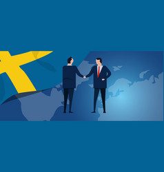 sweden swedish international partnership vector image