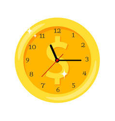 time is money clock vector image