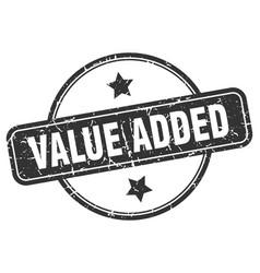 Value added grunge stamp vector