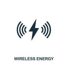 wireless energy icon premium style design from vector image