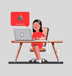Woman forget her password vector