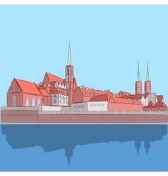 Wroclaw Cathedral of St John vector image