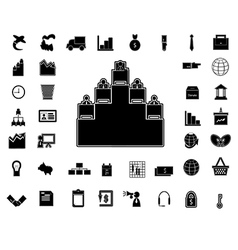 40 business icon vector image vector image