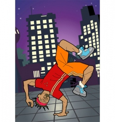 break-dancer illustration vector image