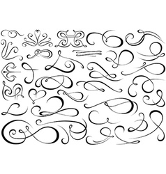 Calligraphic Shapes vector image