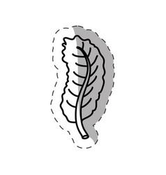 leaf ecology nature monochrome vector image