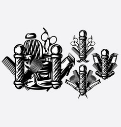 set of monochrome templates for logo on the topic vector image