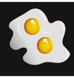 Two fried eggs vector image