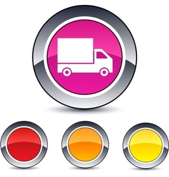 Delivery round button vector image