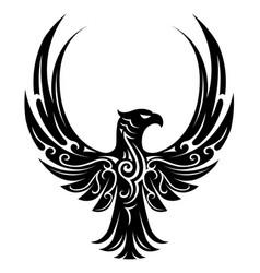 eagle tattoo shape vector image