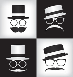 Hipster and gentleman vector image vector image