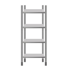 metal shelf isolated icon vector image
