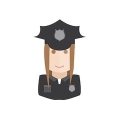 Policewoman avatar vector