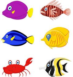 tropical fish cartoon vector image