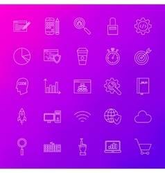 Line Icons Website Development vector image vector image