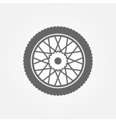 Wheel icon or symbol vector image