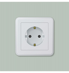 Euro electric socket 01 vector image vector image