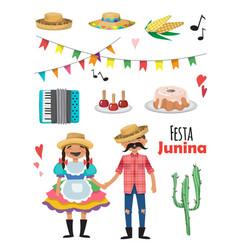festa junina - brazil june festival folklore vector image
