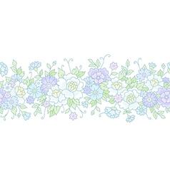 floral wedding border vector image vector image