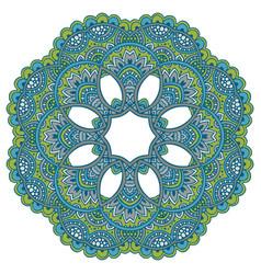 mandala pattern of henna floral elements vector image