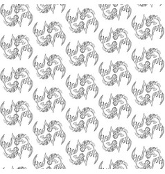seamless pattern image fishes vector image vector image
