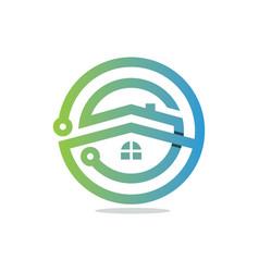 tech house vector image