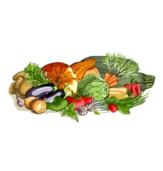 Vegetables Colorful Still Life vector image
