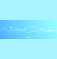 Abstract wave on blue background air flow vector