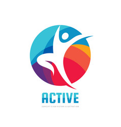 active - concept business logo template vector image