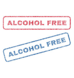 Alcohol free textile stamps vector