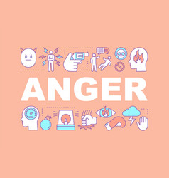 Anger word concepts banner vector