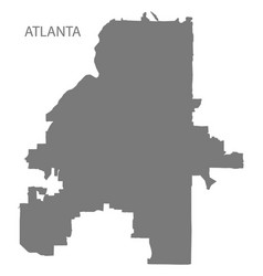 Atlanta georgia city map grey silhouette shape vector