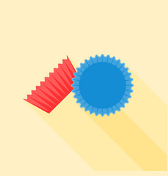 Baking paper cup with long shadow vector