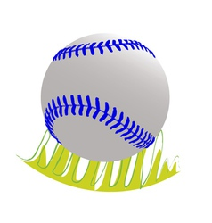 Baseball ball on grass vector